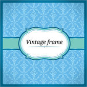 Blue vintage lace card — Stock Vector
