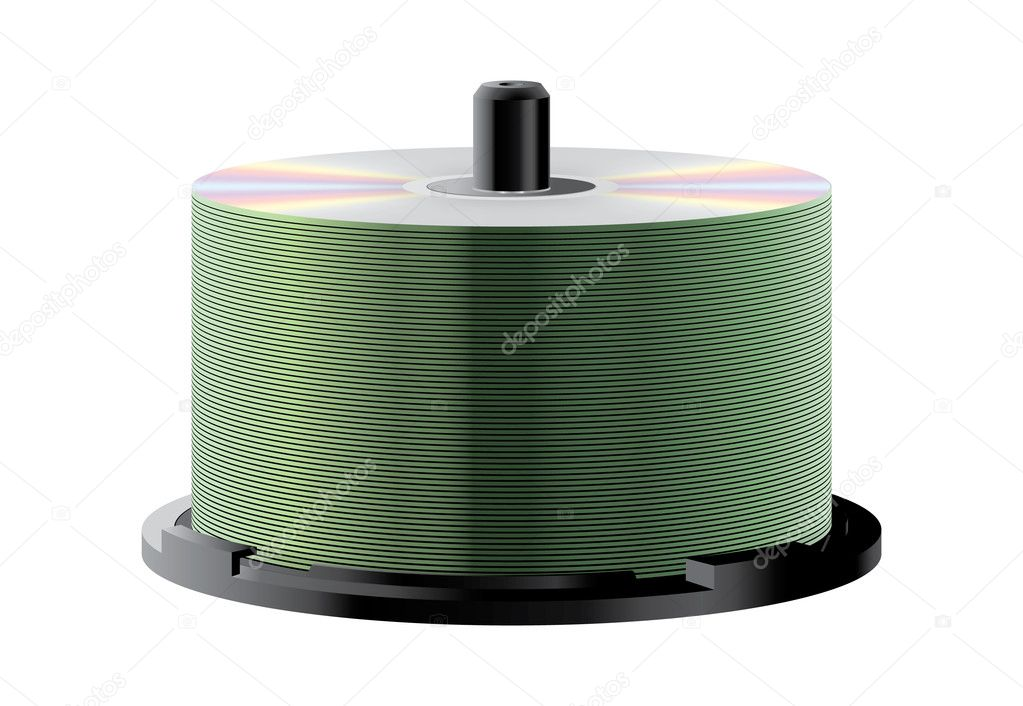 CD stack  Stock Vector #6431679