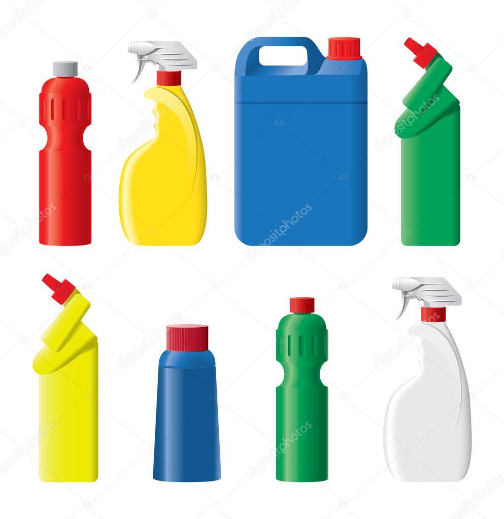 Set of plastic bottles Plastic Bottle Vector