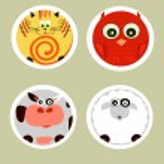 Cartoon animals set — Stock Vector #6372386