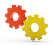Gear wheels system isolated — Stock Photo