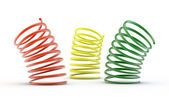 Colorful 3d springs — Stock Photo