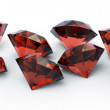 Beautiful ruby gems isolated — Stock Photo