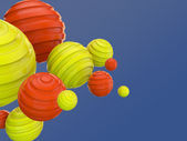 Abstract background of 3d balls — Stock Photo