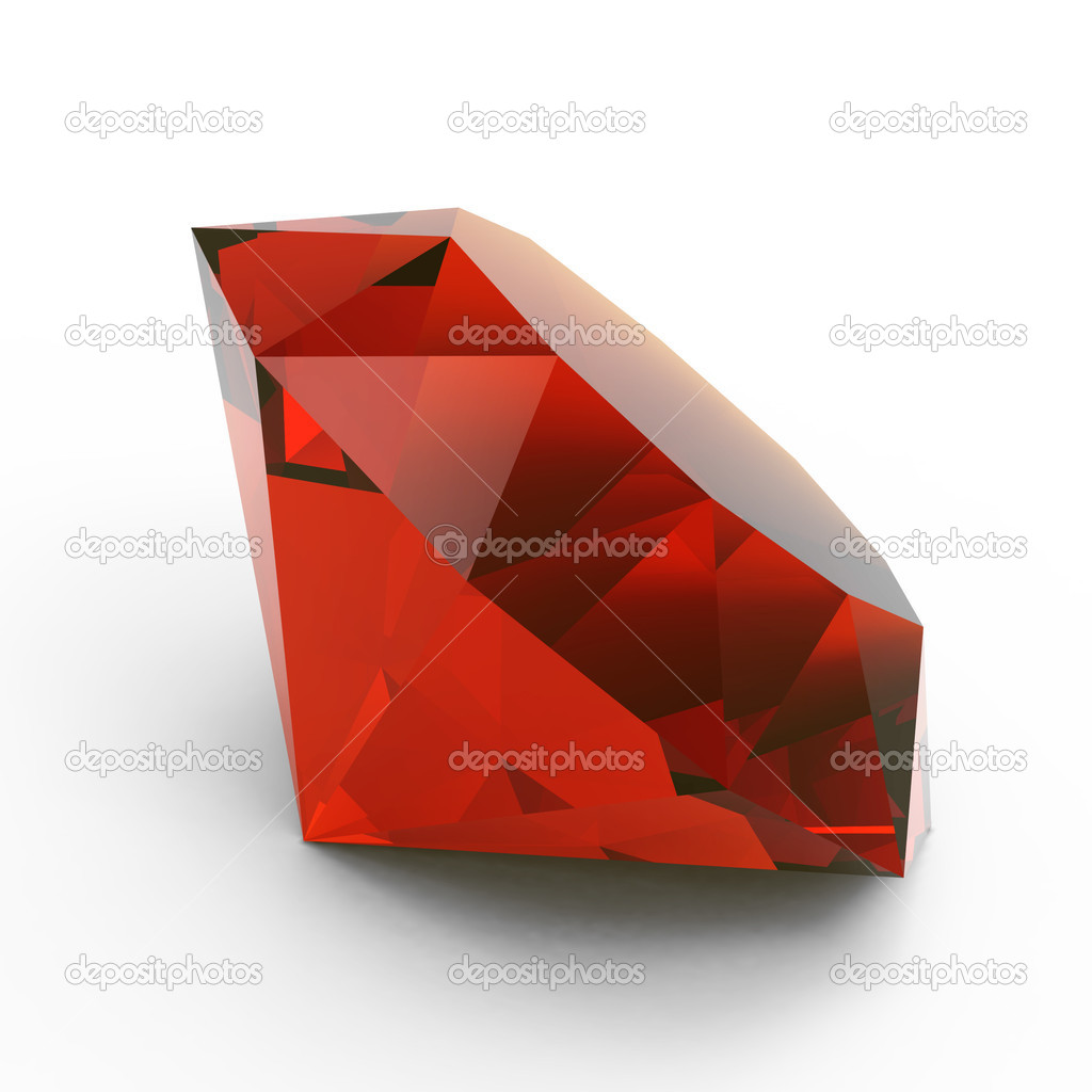 Beautiful ruby isolated on white background — Stock Photo #6669915