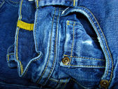 Bluejeans pocket — Stock Photo
