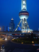 Pearl tower in Pudong Shanghai — Stock Photo