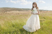 Communion girl — Stock Photo
