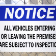 Vehicle Inspection Sign — Stok fotoğraf