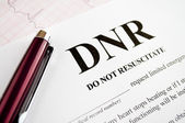 DNR Form — Stock Photo