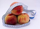 Peach, healthy weight loss — Stock Photo