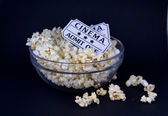 Bowl of fresh popped popcorn — Stock Photo
