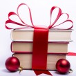 Gift wrapped books for Christmas — Εικόνα Αρχείου #6519759