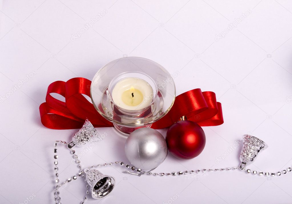 candles in a Christmas setting — Stock Photo #6519988