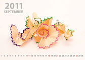 2011 september calendar — Stock Photo