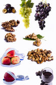 Mixed fruit and seeds — Stock Photo