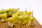 Cheese canape — Stock Photo