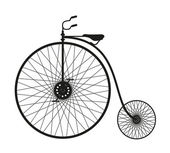 Silhouette of an old bicycle — Stock Photo