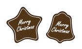 Gingerbread Christmas cookies — Stock Vector
