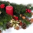 Red advent wreath — Stock Photo #6378016