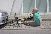 Bicycle Accident — Stock Photo