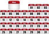 Pode calendar — Vetorial Stock