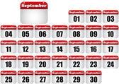 September calendar — Cтоковый вектор
