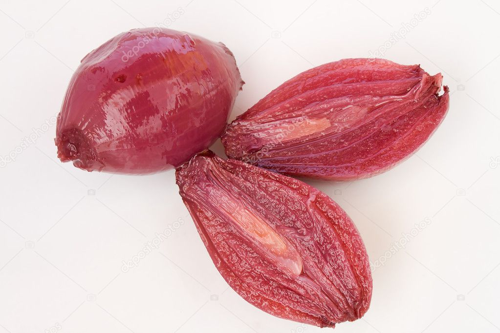 Closeup of red onion — Stock Photo #6472897
