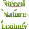 Stock Vector: Green nature and ecology text