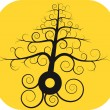 Black spiral tree with root - Imagen vectorial