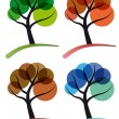 Tree four seasons - Imagen vectorial