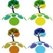 Stock Vector: Tree four seasons