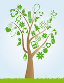 Tree ecology — Stock Vector