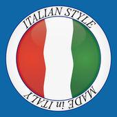 Italian style icon — Vector de stock