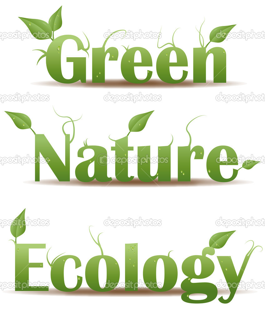 Nature Ecology: Green Nature And Ecology Text