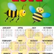 Royalty-Free Stock Vector Image: 2012 bee calendar