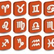 Royalty-Free Stock Vector Image: 3D zodiac orange icon