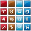 Zodiac element icons — Stock Vector