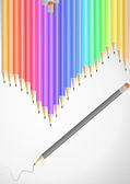 Set of color pencil — Stock Vector