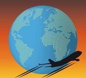 World airplane — Stock Vector