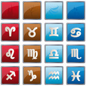 Zodiac element icons — Stock Vector