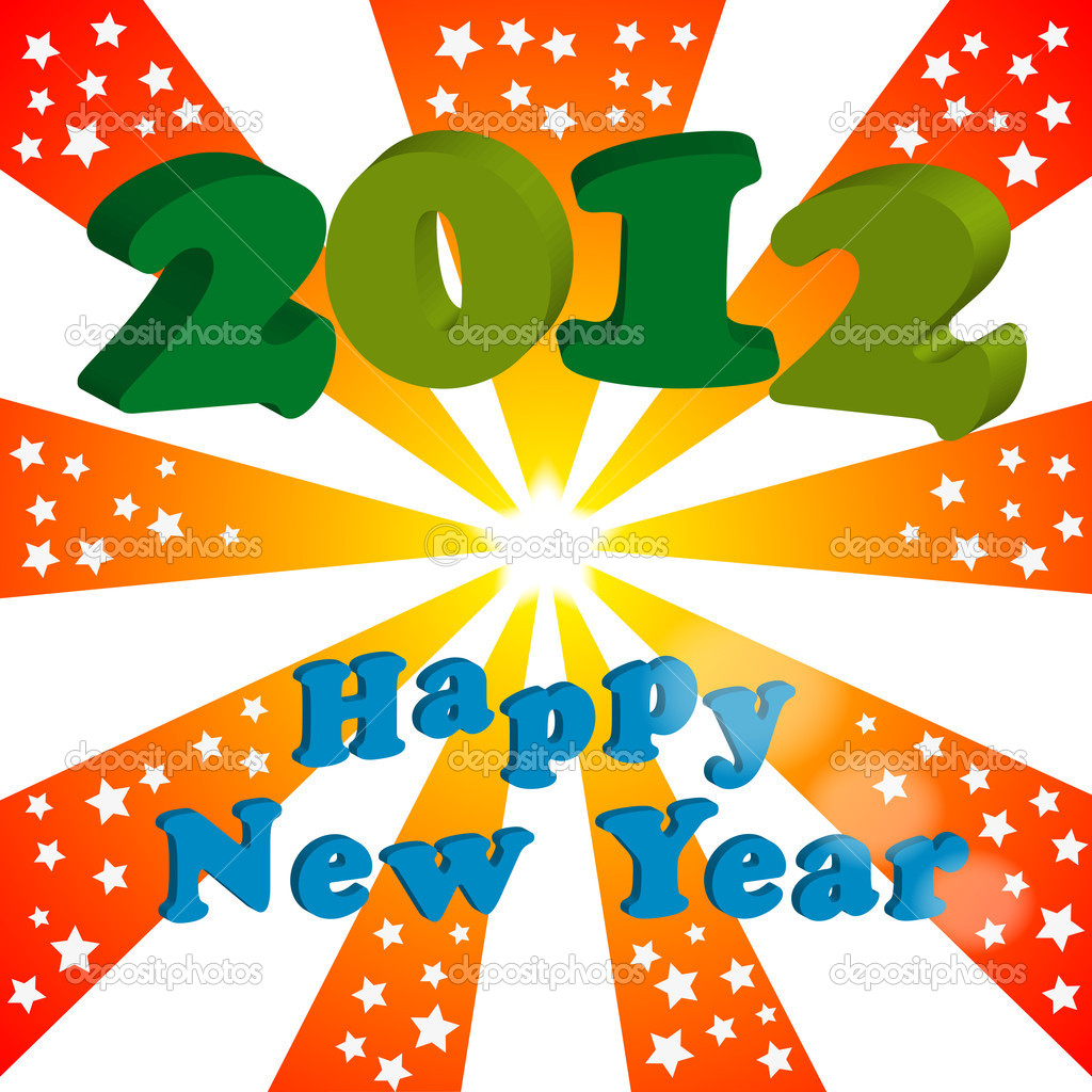 Illustration of 2012 happy new year — Stock Vector #6678689