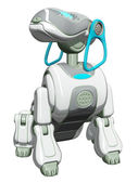 Robot Dog Sitting — Stock Photo