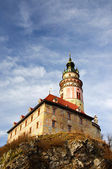 El castillo de cesky krumlov — Foto de Stock