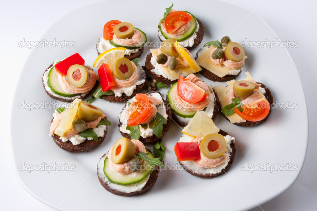 Gesunde h ppchen stockfoto 6622141 for Canapes ideen