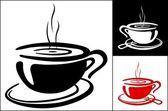 Taza de fondo café — Vector de stock