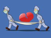 Two medics in uniform — Stock Vector