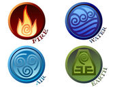 Symbols four elements of nature — Stockvector
