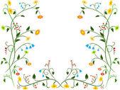 Květinové květinový ornament — Stock vektor