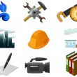 Royalty-Free Stock Vector Image: Set of industrial and other icons.
